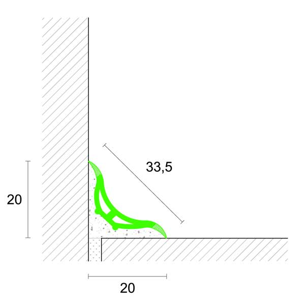 Profilpas – Profilo a sguscio art. BL/20 in pvc BIANCO 20×20 – barra da mt 2,70